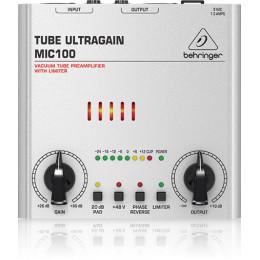 Behringer MIC100 - микрофонный/линейный предусилитель с ламповым