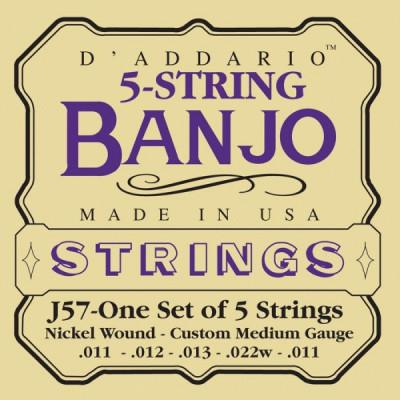 Струны для банджо D'Addario J57