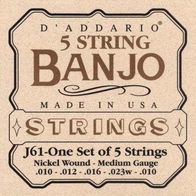 Струны для банджо D'Addario J61