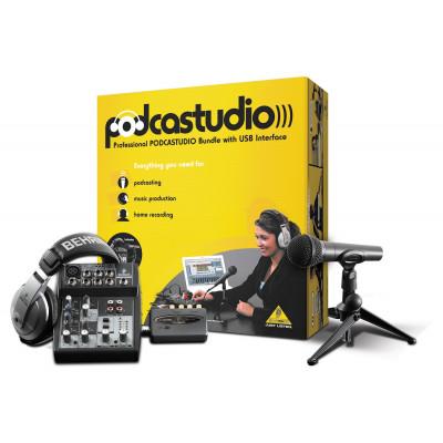 Комплект для домашней звукозаписи Behringer PODCASTUDIO USB