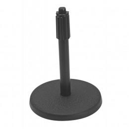 OnStage DS7200B - микрофонная стойка, прямая, круглое основание, регулируемая высота,черная