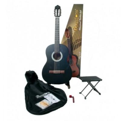 Набор:Классическая гитара, чехол, подставка, струны Barcelona CG11K/BK