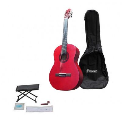 Набор:Классическая гитара, чехол, подставка, струны Barcelona CG11K/RD