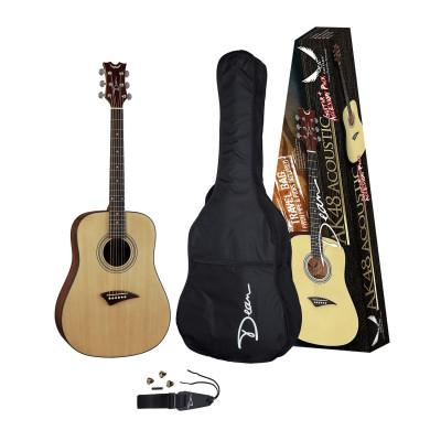 Комплект: акустическая гитара/чехол/нейлон.ремень/свисток/3 медиатора Dean AK48 PK