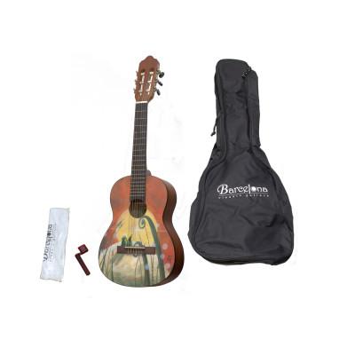 Набор: классическая гитара детская, размер 1/4 и аксессуары Barcelona CG10K/COLLINE 1/4