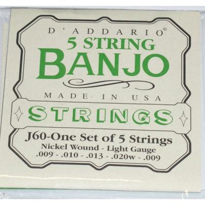 Струны для банджо D'Addario J60